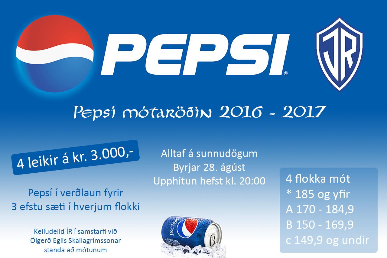 Pepsí mót ÍR 2016 til 2017 graphic