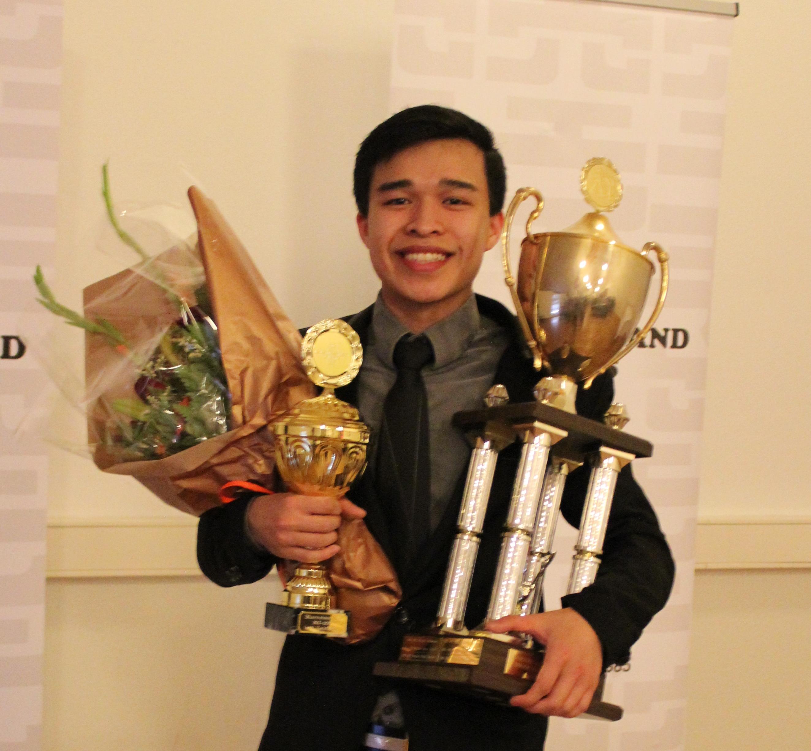 Aron Anh Huynh smáþjóðameistari í kata graphic