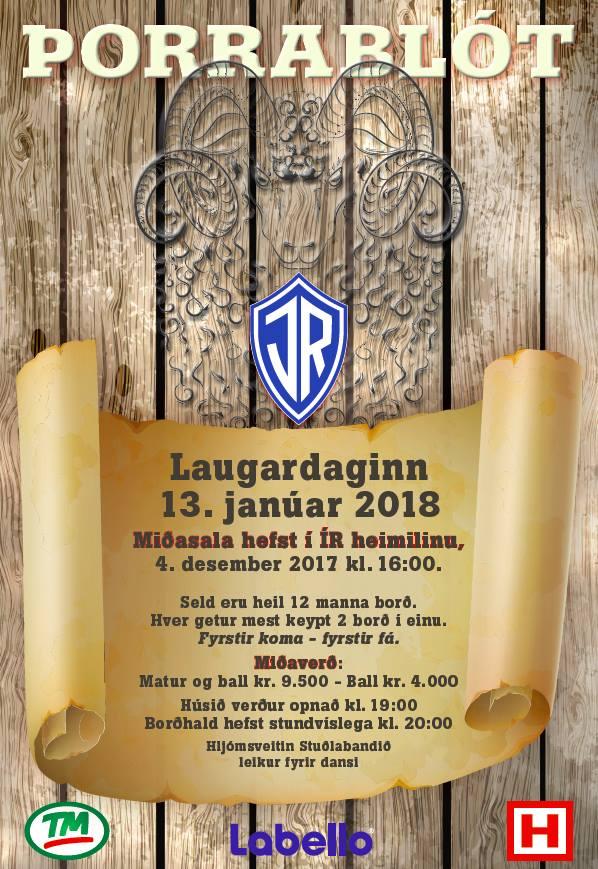Miðasala á Þorrablót ÍR hefst mánudaginn 4. desember. graphic