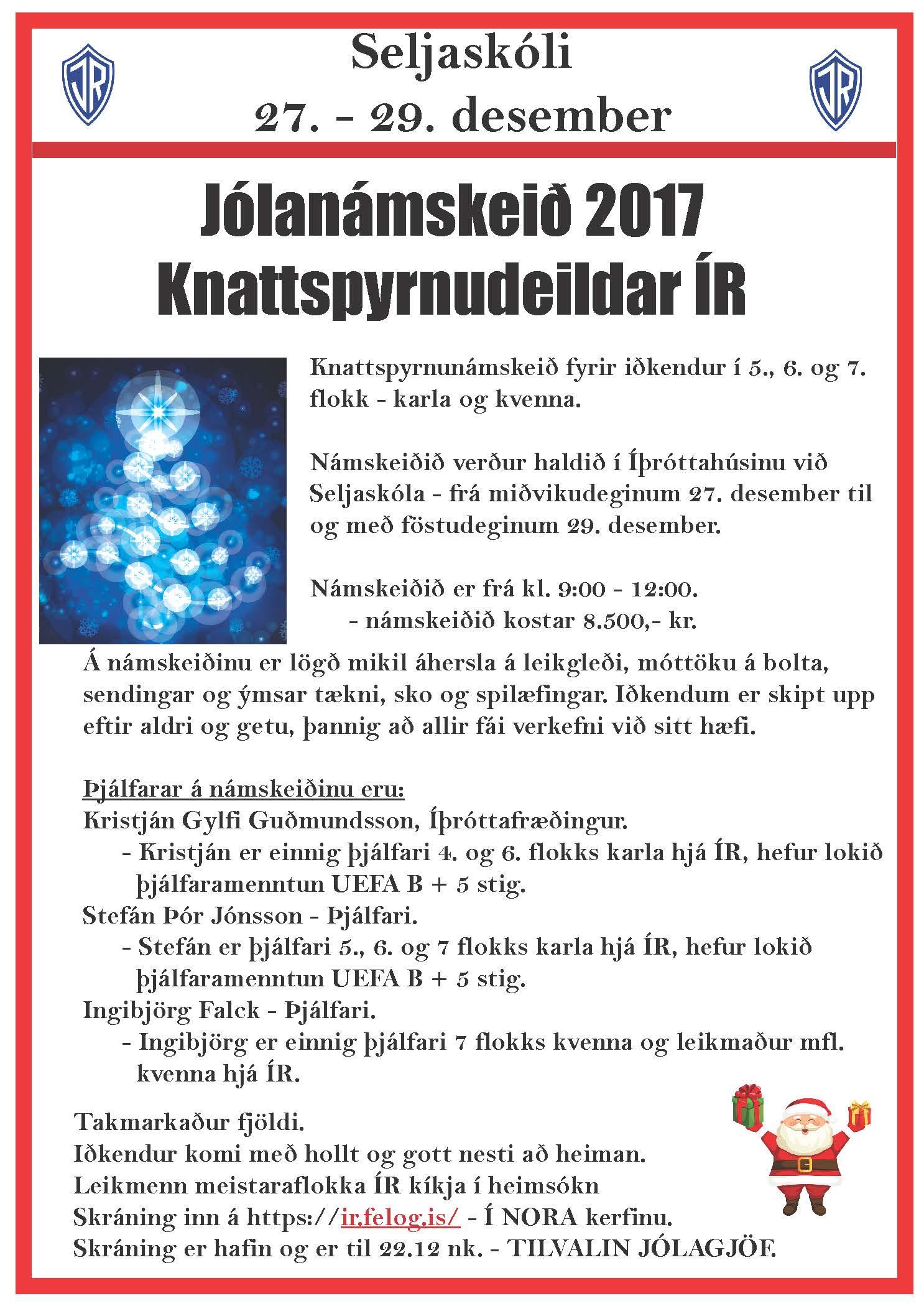 Jólanámskeið 2017 graphic