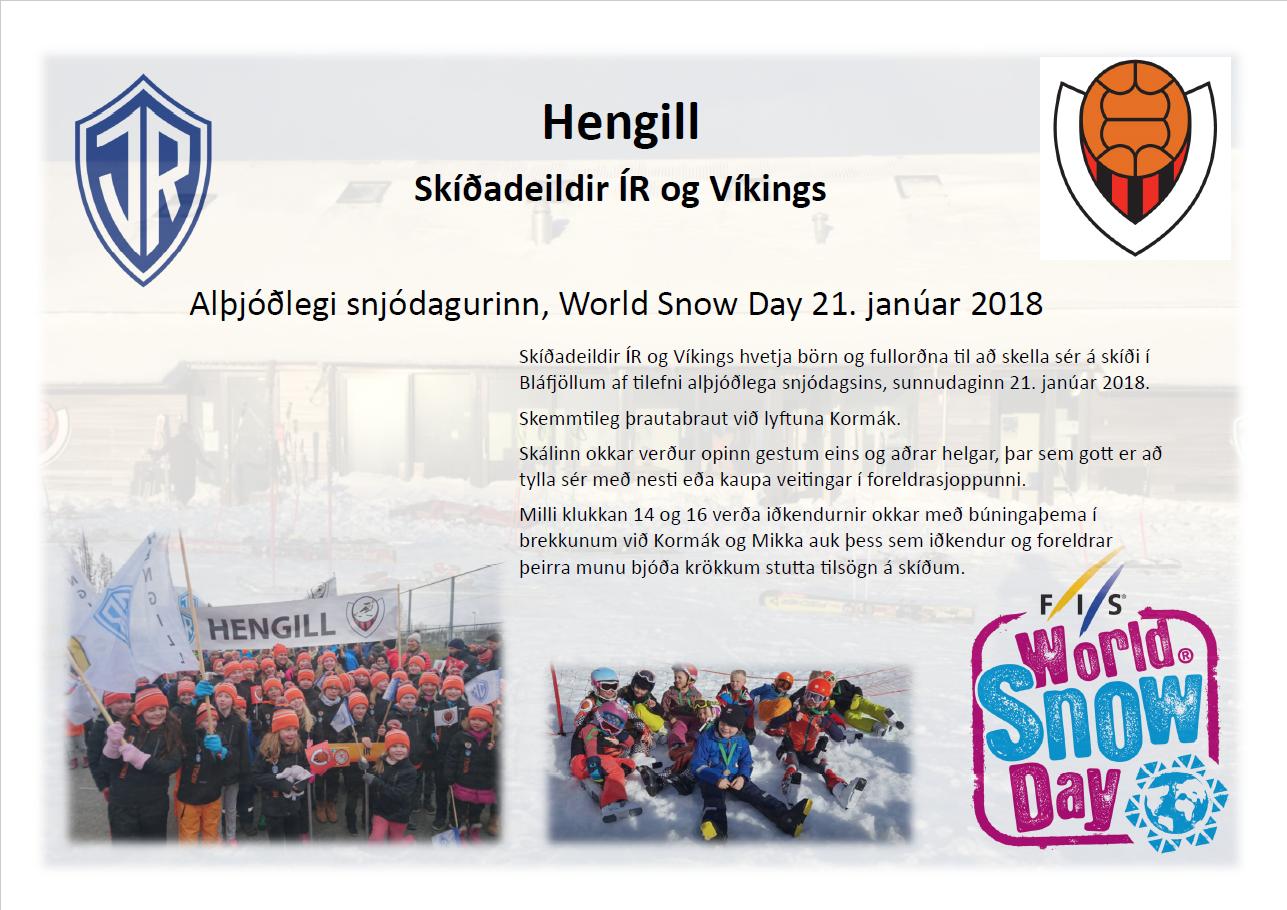 Alþjóðlegi snjódagurinn, World Snow Day 21. janúar 2018 graphic