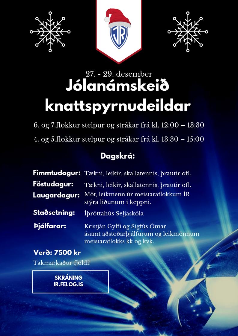 Jólanámskeið knattspyrnudeildar 2018 graphic