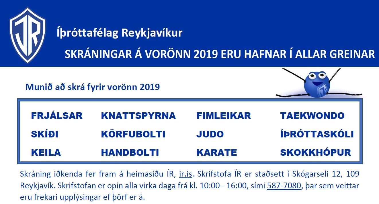 Skráningar eru hafnar fyrir vorönn 2019 graphic