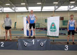 Sæmundur Ólafsson Íslandsmeistari í 1500 m hlaupi, Bjartmar Örnuson KFA í 2. sæti og Dagbjartur Kristjánsson þriðji.