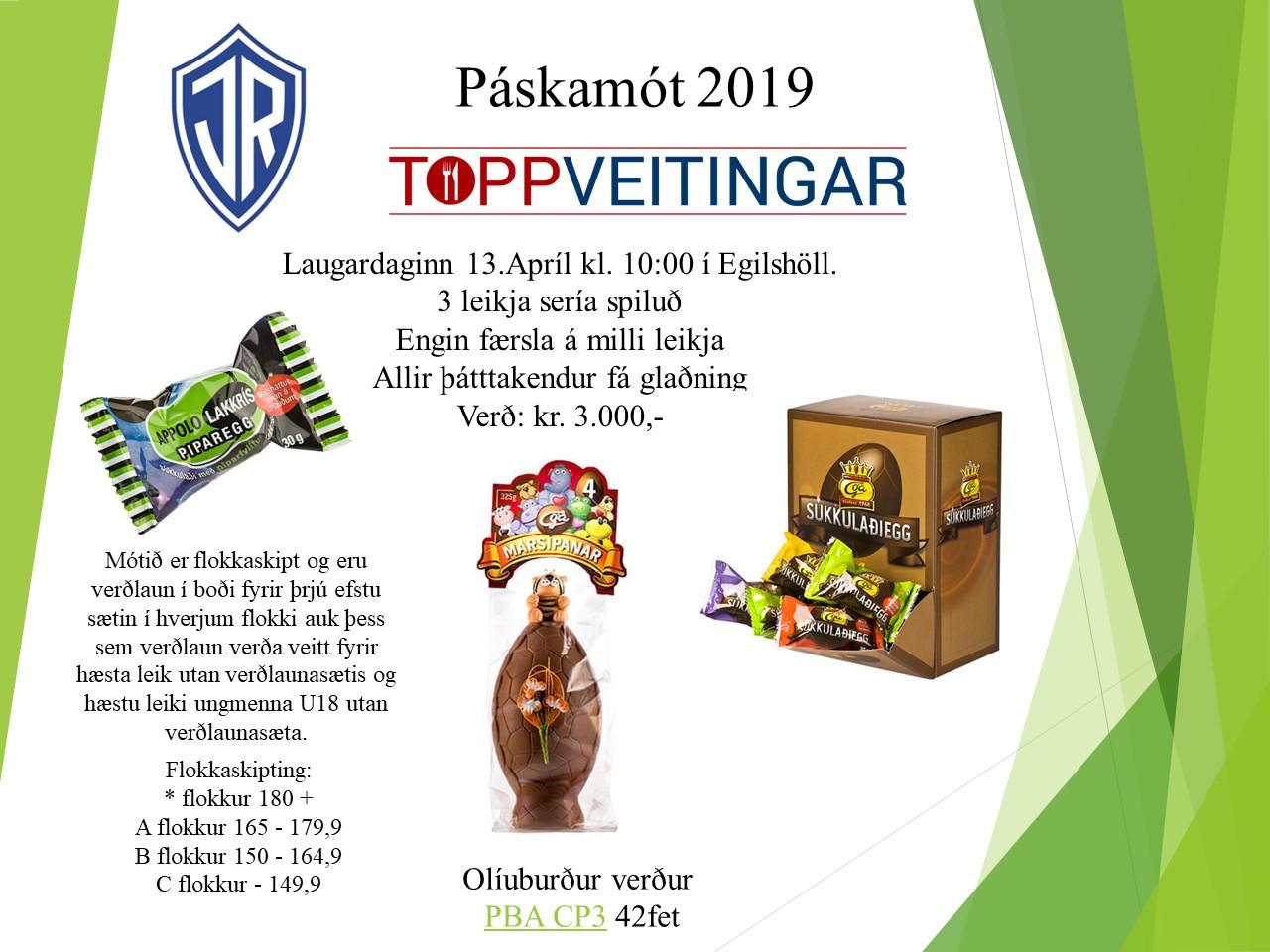 Páskamót ÍR og ToppVeitinga 2019 graphic