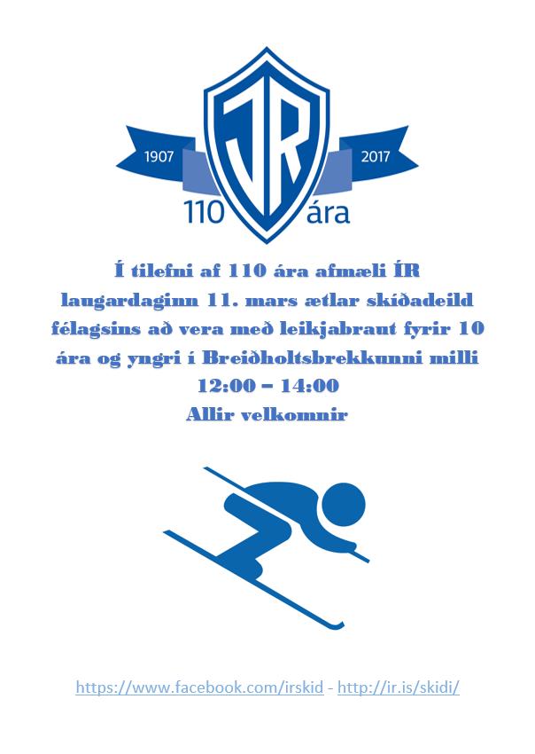 110 ára afmæli ÍR – Leikjabraut í Breiðholtsbrekkunni graphic