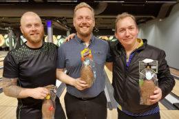 Hafþór, Andrés og Einar í * flokki