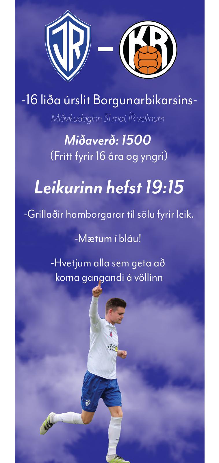 IR gegn KR miðvikudaginn 31. maí klukkan 19:15 graphic