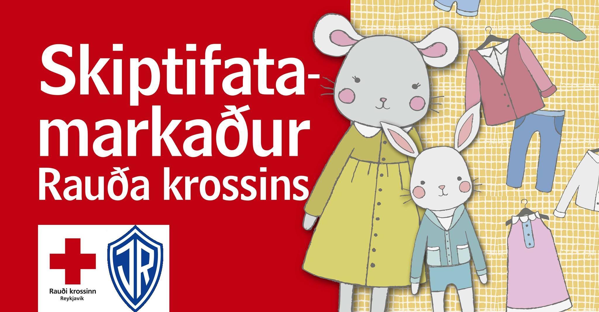 Skiptifatamarkaður í samstarfi við Rauða krossinn graphic