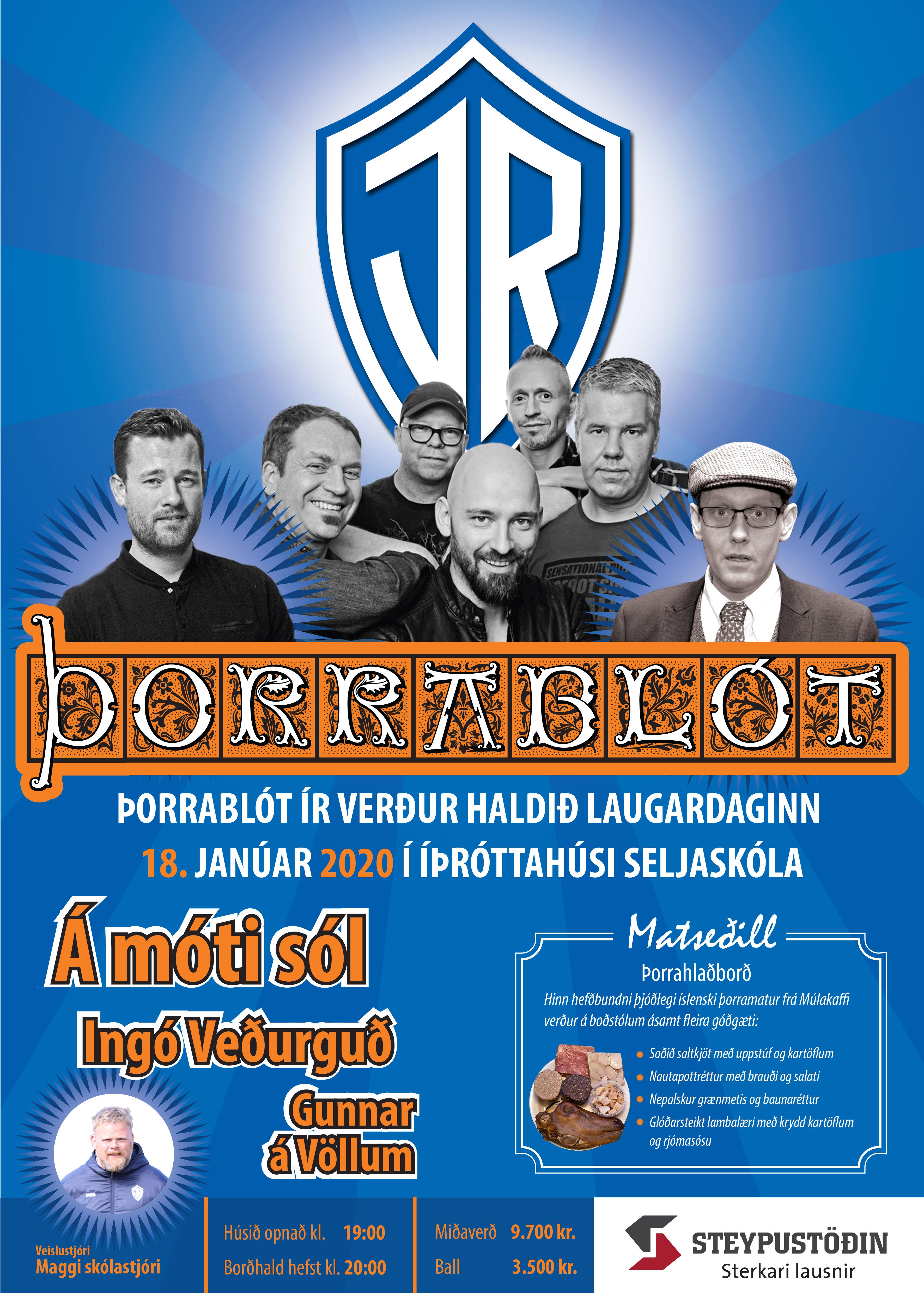 Þorrablót ÍR verður 18. janúar! graphic