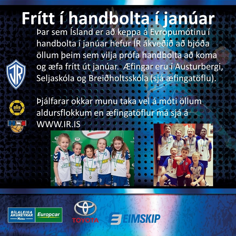 Frítt í handbolta fyrir nýja iðkendur í janúar graphic