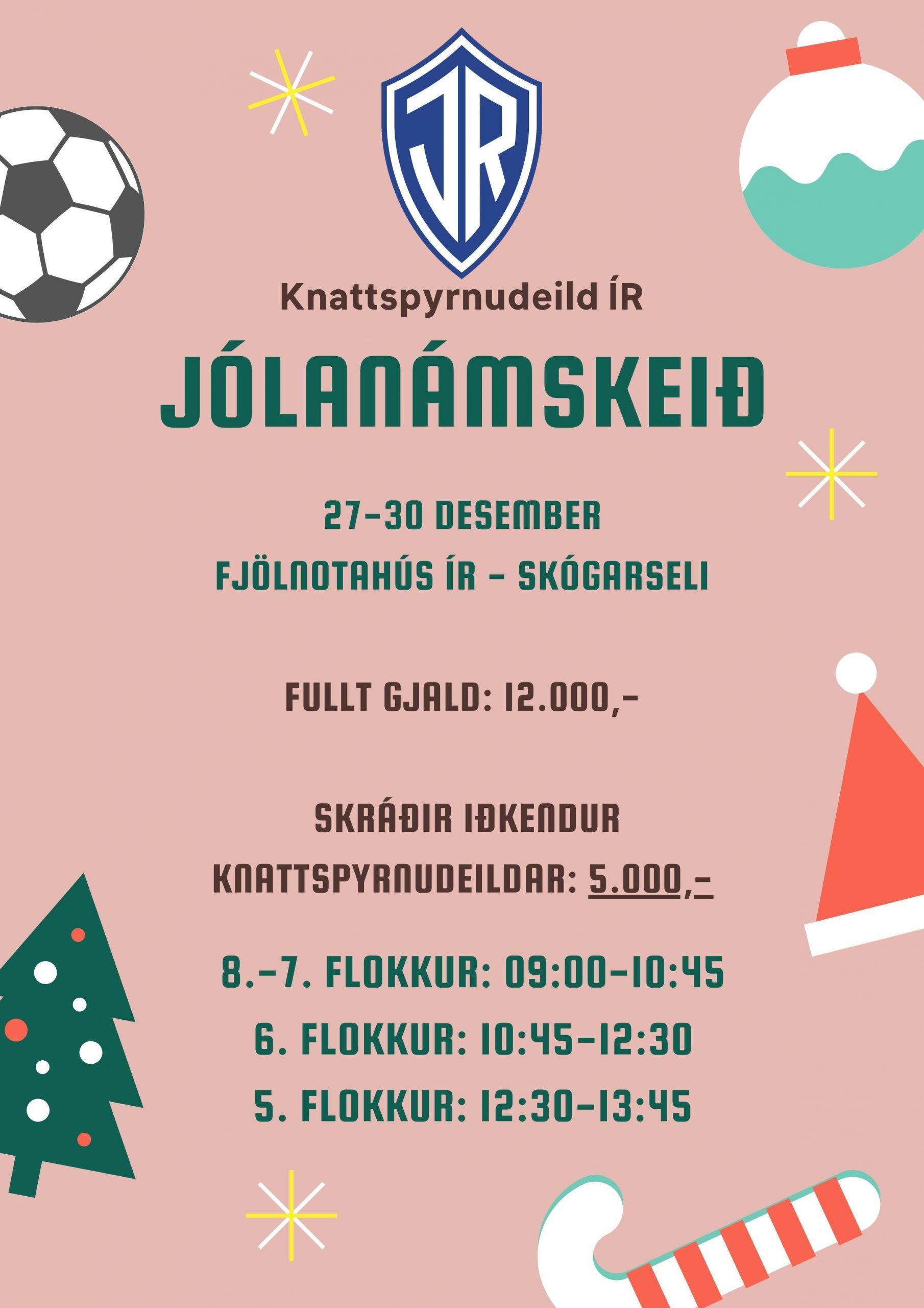 Jólanámskeið Knattspyrnudeildar 27.-30. desember graphic